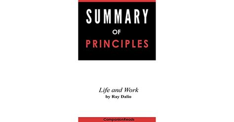Summary of Principles: Life and Work by Ray Dalio by