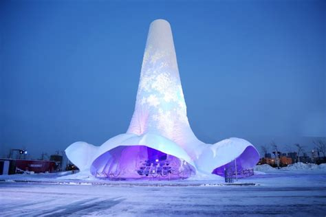 The largest ever ice sculpture in the world has been