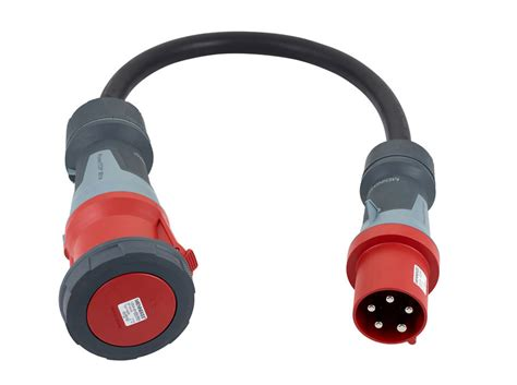 63A Plug to 125A Socket Adapter Lead HO7RN-F Cable 16mm
