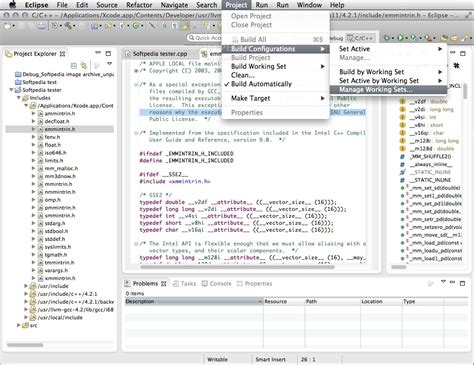 Eclipse IDE for C/C++ Developers Mac 1