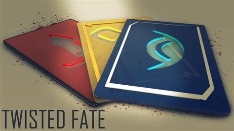 League of Legends Twisted Fate Cards | Cinema 4D Speed Art