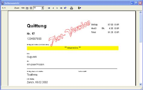 Easy Quittung Download | Freeware