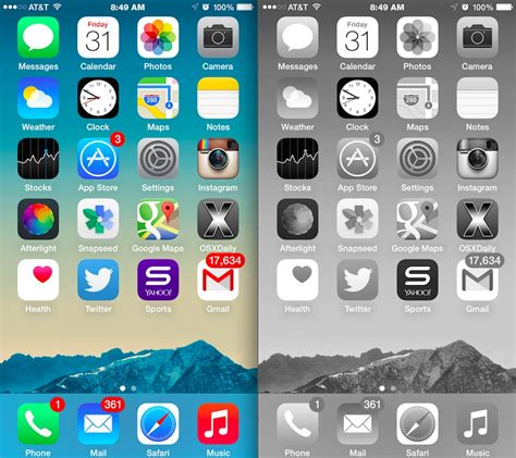 Turn iPhone or iPad Screen Into Black & White with