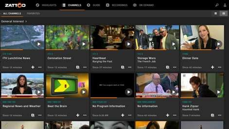 Zattoo Live TV for Windows 10 free download on 10 App Store