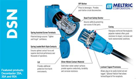 Meltric Switch-rated Plugs and Receptacles DSN Decontactor
