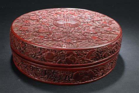 A Circular Chinese Estate Lacquer Box Display-【Deal Price
