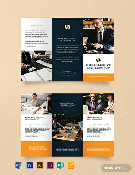 FREE Blank Trifold Brochure Template - Word (DOC)   PSD