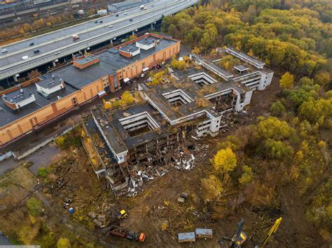 Unfinished and Abandoned Khovrino Hospital in Moscow
