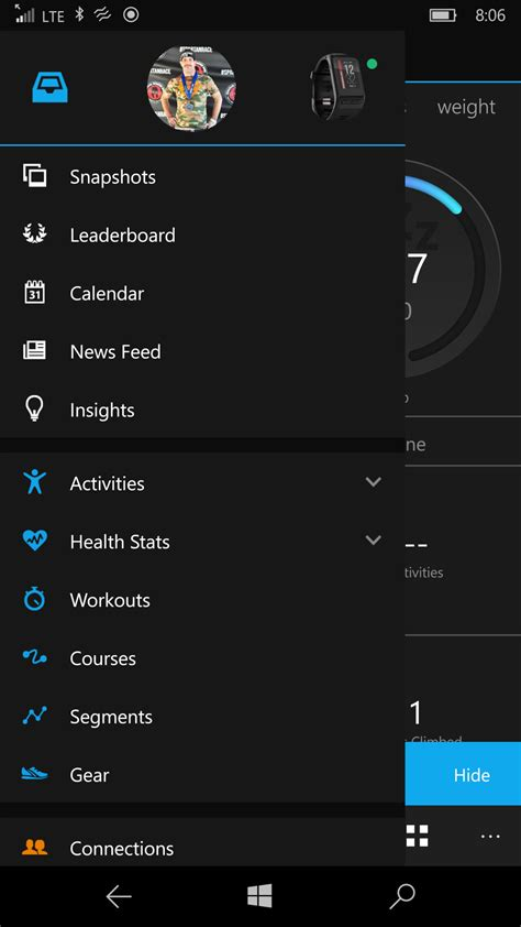 Garmin Connect Mobile app for Windows 10 updated with