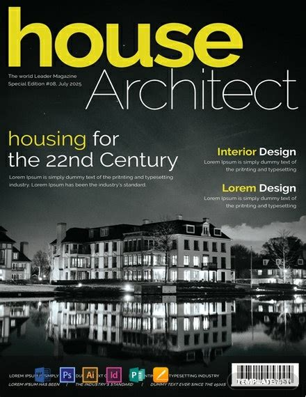 FREE Architecture Magazine Cover Page Template - Word (DOC